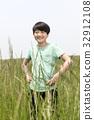 미소, 소년, 손허리 32912108