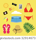 海邊,女性,夏天,裝扮,比基尼 32914673