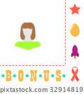 Girl head computer symbol 32914819
