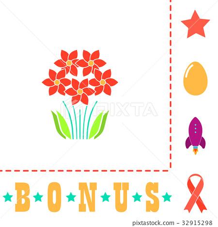 flowers computer symbol 32915298