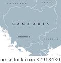 Cambodia political map 32918430