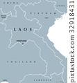 Laos political map 32918431