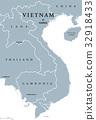 Vietnam political map 32918433