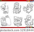 cats on Christmas time set coloring book 32918444