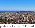 aerial view of Barcelona, Spain 32918848