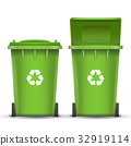 Green Recycling Bin Bucket Vector For Glass Trash 32919114