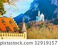 Famous bavaria landmark Neuschwanstein Castle in 32919157