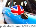 United Kingdom flag as decoration of a car 32919159