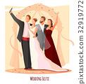 快乐 幸福 婚礼 32919772