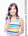 여자, 한국인, 계절 32920906