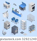 Dry Cleaning And Laundry Service Isometric Set  32921240