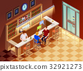 .Friends In Bar Interior Isometric View  32921273