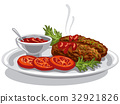 burgers with tomato sauce 32921826