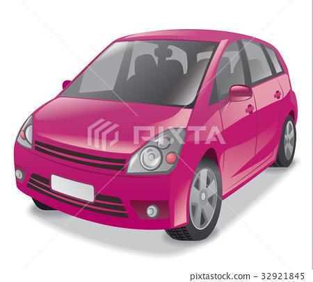 pink hatchback car 32921845