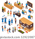 Students And Teachers Isometric Set 32922087