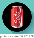 Flat cola can soda can vector illustration Cola 32923220