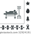 Illustration of Life icons, hospitalized 32924191