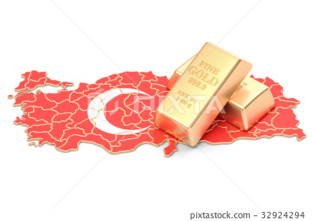 Foreign-exchange reserves of Turkey concept 32924294