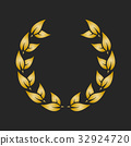 laurel, gold, vector 32924720