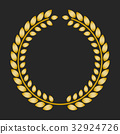 laurel, gold, vector 32924726