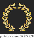 laurel, gold, vector 32924728