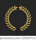 laurel, gold, vector 32924732
