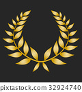 laurel, gold, vector 32924740