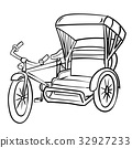Hand drawing of Tricycle-Vector Illustration 32927233