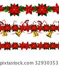 seamless, vector, christmas 32930353