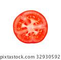 Slice of tomato isolated on white 32930592