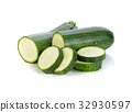 zucchini isolated on white background 32930597