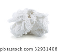 crumpled tissue paper isolated on white background 32931406