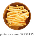 french fries on a white background 32931435