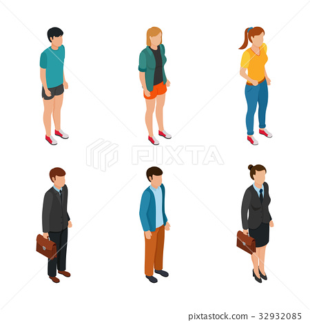 Trend Isometric people of different characters 32932085