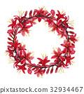 watercolor crocosmia flower 32934467