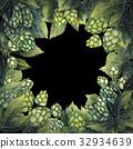 Watercolor hop design 32934639