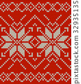 Nordic knitted perfect seamless pattern. EPS 10 32935135