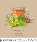 vanilla, leaf, illustration 32935579