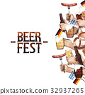 Watercolor octoberfest design 32937265
