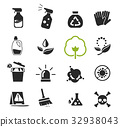 Cleaning with chemicals icon concept. 32938043