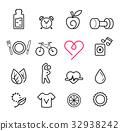 Basic icon exercise set. 32938242