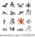 Power body icon concept. Gym class by yourself. 32938244