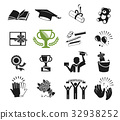 Success in study icon concept.  32938252