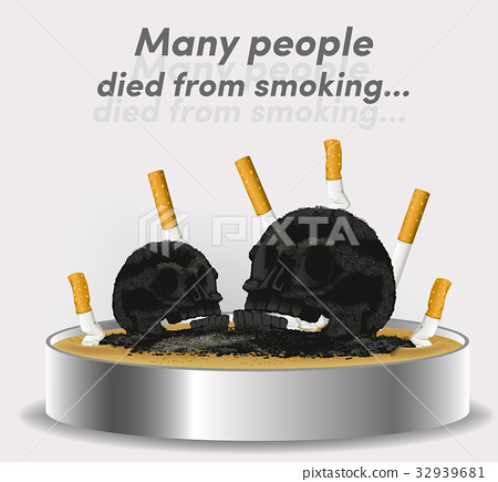 Smoking can lead to death.The problem of smoke.  32939681