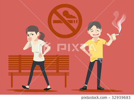 Smoking in public places. Warning in social.  32939683