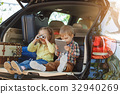 Travel by car family trip together vacation 32940269