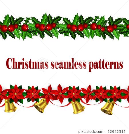 Set of n Seamless Christmas borders 32942515