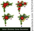 vector, leaf, xmas 32942544