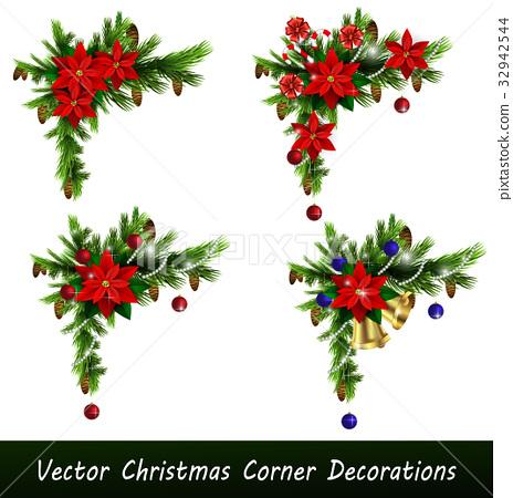 Set of Cristmas corner decorations 32942544