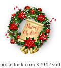 wreath, bow, white 32942560